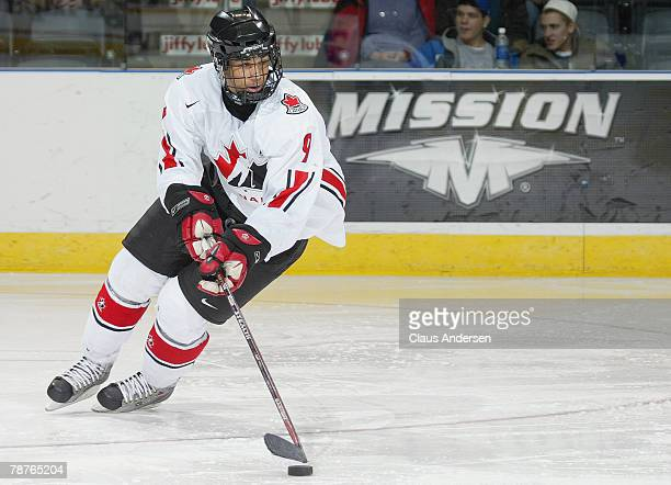 Evander Kane of Team Pacific skates in a game against Team West on January 4, 2008 at the John Labatt Centre in London, Ontario, Canada. Team West...
