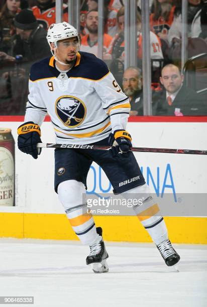 Evander Kane of the Buffalo Sabres skates against the Philadelphia Flyers on January 7 2018 at the Wells Fargo Center in Philadelphia Pennsylvania