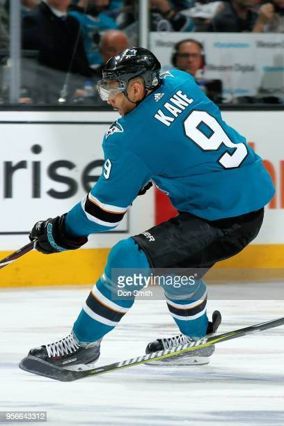 Evander Kane of the San Jose Sharks skates in Game Six of the Western Conference Second Round against the Vegas Golden Knights during the 2018 NHL...