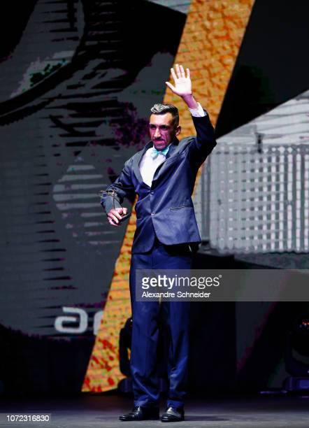 Evandro Gomes paralympic soccer player poses for photo after winning the best Soccer of 7 athlete during the Brazil Paralympics Awards Ceremony 2018...