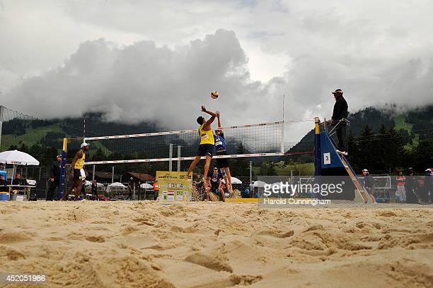 Evandro Goncalves Oliveira Junior of Brazil Vitor Goncalves Felipe of Brazil Robert Meeuwsen of the Netherlands and Alexander Brouwer of the...