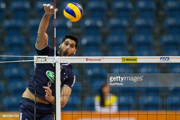 Evandro M Guerra during FIVB Volleyball Men's World Championship 3rd place match between Skra Belchatow and Sada Cruzeiro on 17th December 2017 in...