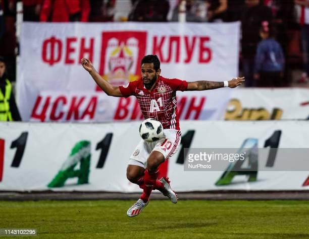 Evandro of CSKA Sofia during the A PFG match between CSKA Sofia and Ludogorets Razgrad at the Balgarska Armiya Stadium in Sofia, Bulgaria on May...