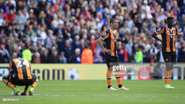 Evandro of Hull City is dejected after Crystal Palace third goal during the Premier League match between Crystal Palace and Hull City at Selhurst...