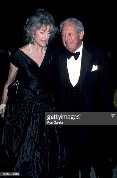 Evangaline Bruce and William S Paley during Yves Saint Laurent Party in New York City December 5 1983 at Metropolitan Museum of Art in New York New...