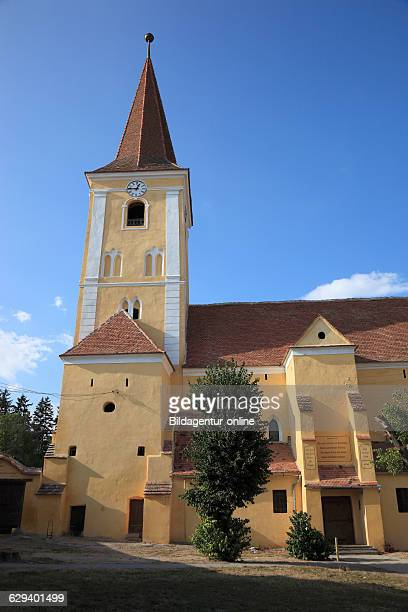 Evangelical Church built in 1238 as a threenave Romanesque basilica with a western tower destroyed in the Turkish wars rebuilding the fortified...
