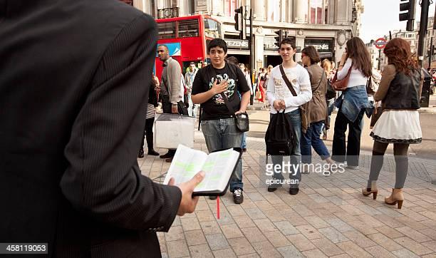 福音ストリートロンドンで説教師 - 説教師 ストックフォトと画像