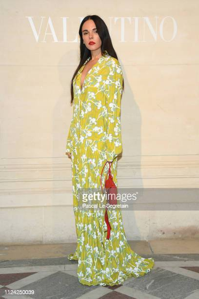 Evangelie Smyrniotaki attends the Valentino Haute Couture Spring Summer 2019 show as part of Paris Fashion Week on January 23 2019 in Paris France