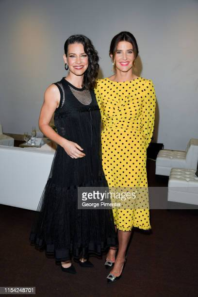 Evangeline Lilly and Cobie Smulders attend the CTV Upfront 2019 at Sony Centre For Performing Arts on June 06, 2019 in Toronto, Canada.