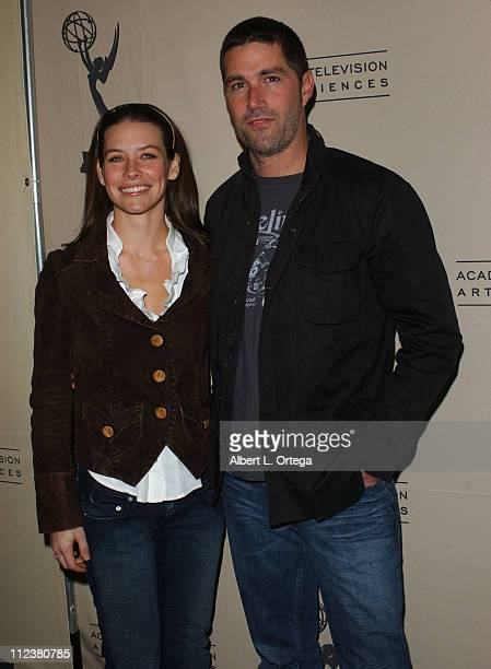Evangeline Lilly and Matthew Fox during The Academy of Television Arts Sciences Presents An Evening with 'Lost' Arrivals at Leonard H Goldenson...