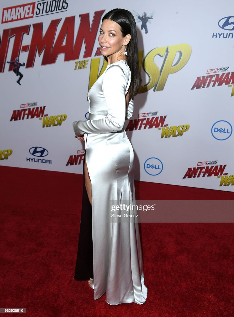 Evangeline Lilly arrives at the Premiere Of Disney And Marvel's 'Ant-Man And The Wasp' on June 25, 2018 in Hollywood, California.