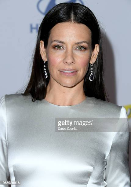 Evangeline Lilly arrives at the Premiere Of Disney And Marvel's 'AntMan And The Wasp' on June 25 2018 in Hollywood California
