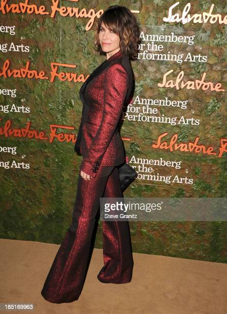 Evangeline Lilly arrives at the Wallis Annenberg Center For The Performing Arts Inaugural Gala at Wallis Annenberg Center for the Performing Arts on...