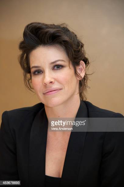 Evangeline Lilly at 'The Hobbit The Desolation Of Smaug' Press Conference at The Beverly Hilton Hotel on December 3 2013 in Beverly Hills California