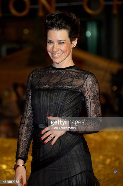 Evangeline Lilly attends the German premiere of the film 'The Hobbit: The Desolation Of Smaug' at Sony Centre on December 9, 2013 in Berlin, Germany.