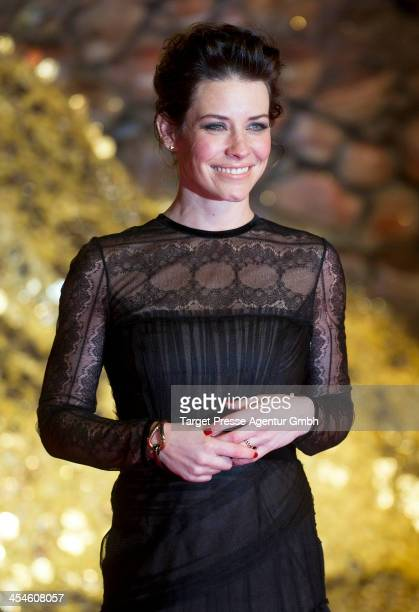 Evangeline Lilly attends the German premiere of the film 'The Hobbit The Desolation Of Smaug' at Sony Centre on December 9 2013 in Berlin Germany