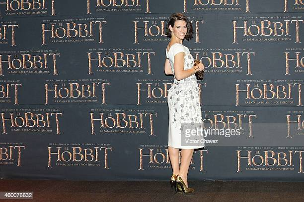 "Evangeline Lilly attends ""The Hobbit: The Battle of the Five Armies"" Mexico City premiere at Auditorio Nacional on December 6, 2014 in Mexico City,..."