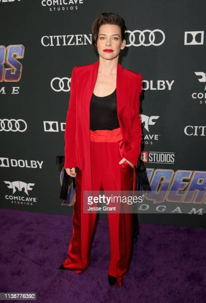 Evangeline Lilly attends the Los Angeles World Premiere of Marvel Studios' Avengers Endgame at the Los Angeles Convention Center on April 23 2019 in...
