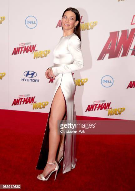 Evangeline Lilly attends the premiere of Disney And Marvel's 'AntMan And The Wasp' on June 25 2018 in Los Angeles California
