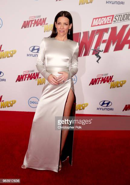Evangeline Lilly attends the premiere of Disney And Marvel's AntMan And The Wasp on June 25 2018 in Los Angeles California