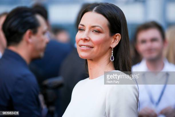 Evangeline Lilly attends the premiere of Disney And Marvel's 'AntMan And The Wasp' on June 25 2018 in Hollywood California
