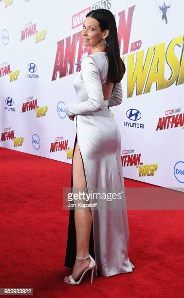 Evangeline Lilly attends the premiere of Disney And Marvel's 'AntMan And The Wasp' at the El Capitan Theater on June 25 2018 in Hollywood California