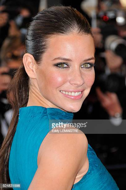 Evangeline Lilly attends the premiere of Looking For Eric during the 62nd Cannes Film Festival