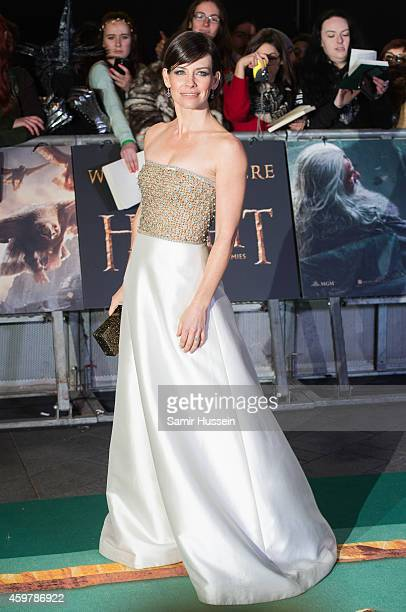 """Evangeline Lilly attends the World Premiere of """"The Hobbit: The Battle OF The Five Armies"""" at Odeon Leicester Square on December 1, 2014 in London,..."""