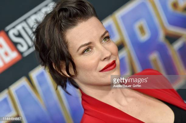 Evangeline Lilly attends the World Premiere of Walt Disney Studios Motion Pictures 'Avengers Endgame' at Los Angeles Convention Center on April 22...