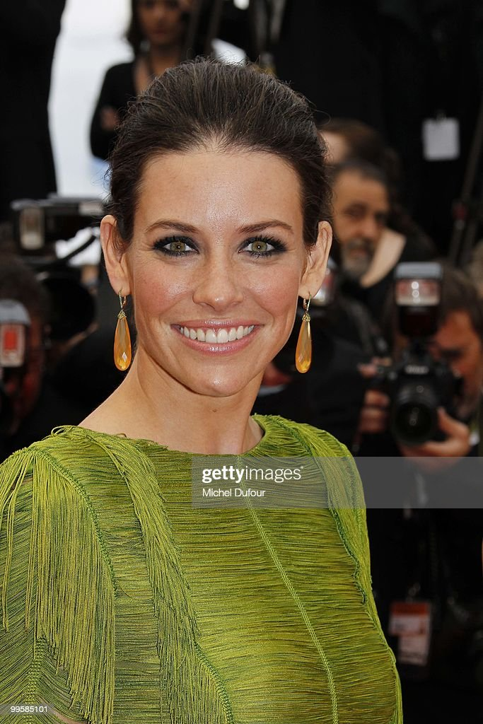 Evangeline Lilly attends the 'You Will Meet A Tall Dark Stranger' premiere at the Palais des Festivals during the 63rd Annual Cannes Film Festival on May 15, 2010 in Cannes, France. on May 15, 2010 in Cannes, France.