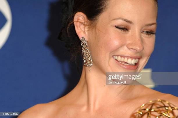 Evangeline Lilly during 57th Annual Primetime Emmy Awards - Press Room at The Shrine in Los Angeles, California, United States.