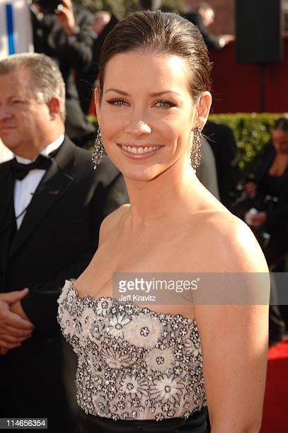 Evangeline Lilly during 57th Annual Primetime Emmy Awards Red Carpet at The Shrine in Los Angeles California United States
