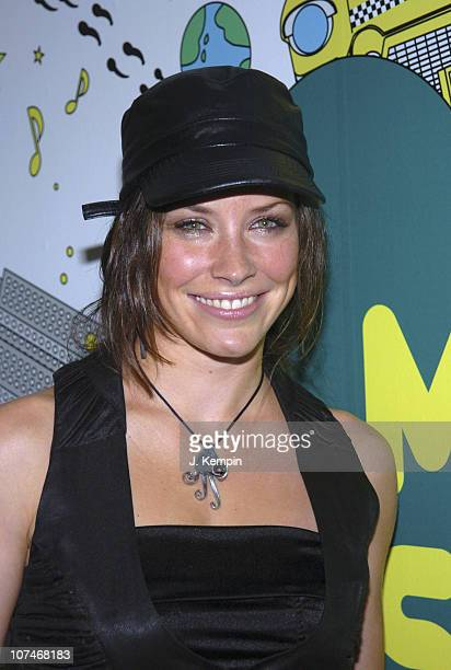 Evangeline Lilly during Alicia Keys Evangeline Lilly Josh Lucas and the Cast of 'Glory Road' Visit MTV's 'TRL' January 11 2006 at MTV Studios Times...