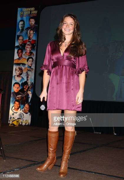 Evangeline Lilly during Creation Entertainment's 2006 The SciFi Summit The Grand Slam Show Day Two at Pasadena Civic Auditorium in Pasadena CA United...