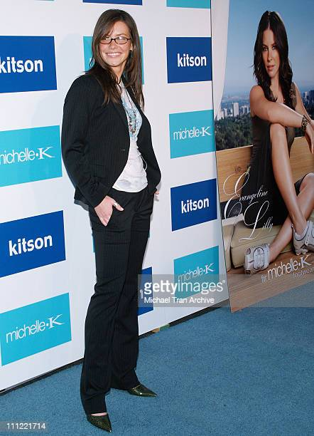 Evangeline Lilly during Evangeline Lilly The New Face of Michelle K Modern Chic Footwear Arrivals June 15 2006 at Kitson Boutique in West Hollywood...
