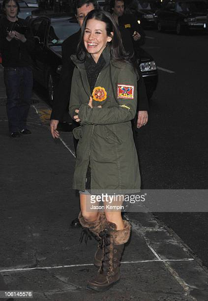 Evangeline Lilly during Evangeline Lilly Visits 'The Late Show With David Letterman' February 27 2007 at The Ed Sullivan Theater in New York City New...