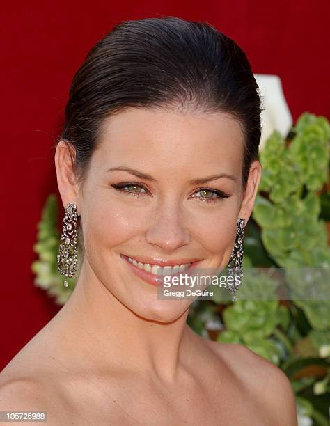 Evangeline Lilly during The 57th Annual Emmy Awards Arrivals at Shrine Auditorium in Los Angeles California United States