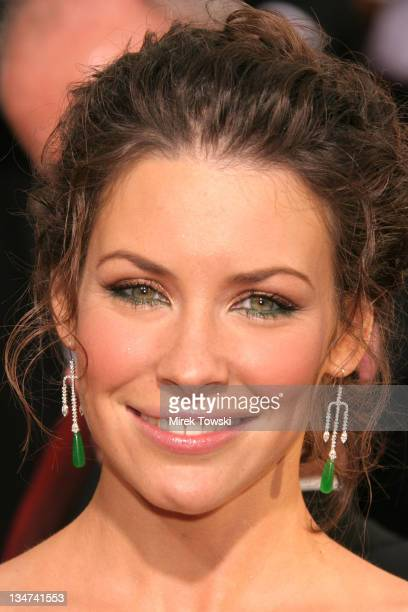 Evangeline Lilly during The 63rd Annual Golden Globe Awards Arrivals at Beverly Hilton Hotel in Beverly Hills California United States