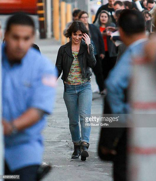 Evangeline Lilly is seen at 'Jimmy Kimmel Live' on November 25 2014 in Los Angeles California