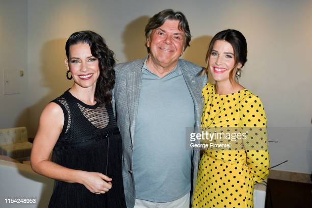 Evangeline Lilly, Randy Lennox and Cobie Smulders attend the CTV Upfront 2019 at Sony Centre For Performing Arts on June 06, 2019 in Toronto, Canada.