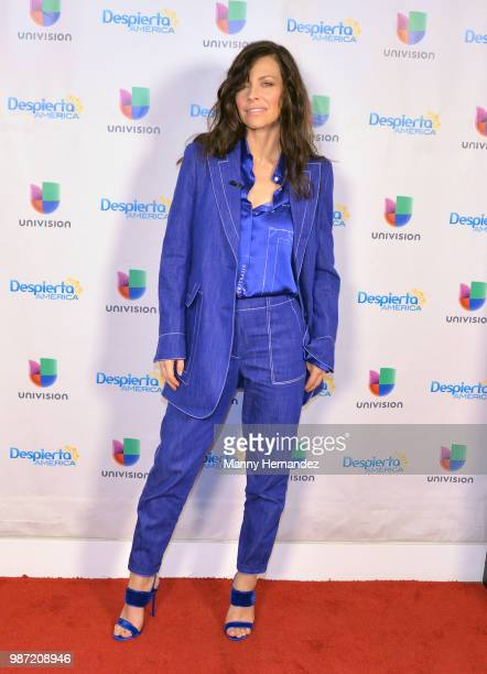 Evangeline Lilly visits Despierta America at Univision on June 27 2018 in Miami Florida