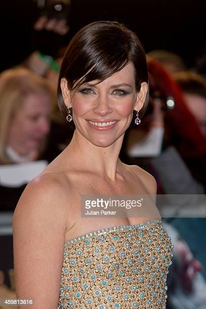 Evangeline Lily attends the World Premiere of 'The Hobbit The Battle Of The Five Armies' at Odeon Leicester Square on December 1 2014 in London...