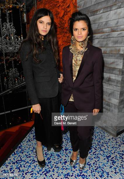 Evangeline Ling and Bip Ling attends the first anniversary party of Sushi Samba at Sushi Samba on November 12 2013 in London England