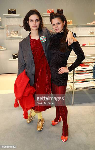 Evangeline Ling and Bip Ling attends the Miu Miu Cocktail Party for the SS17 Collection at Miu Miu New Bond Street on December 7 2016 in London...