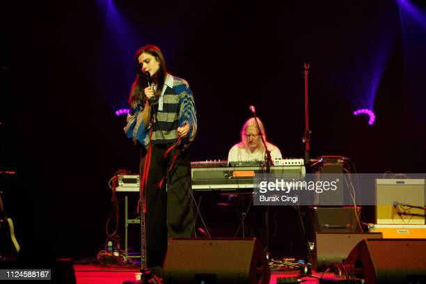 Evangeline Ling and David Wrench of Audiobooks perform at In the Round series at The Roundhouse on January 24 2019 in London England