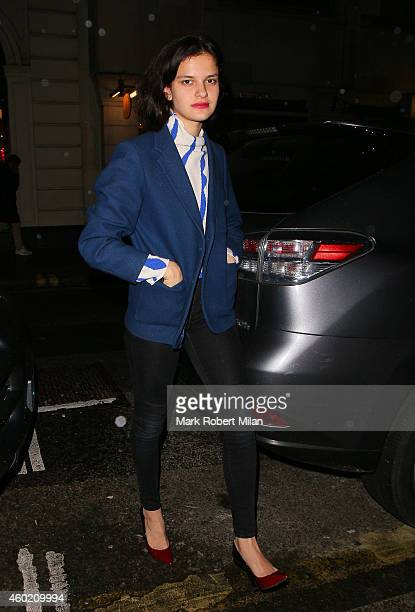 Evangeline Ling attending The Sunday Times Style Christmas party at Tramp night club on December 9 2014 in London England