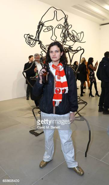 Evangeline Ling attends the Private View of 'Sticks with Dicks and Slits' by Tim Noble and Sue Webster at Blain|Southern on February 2 2017 in London...