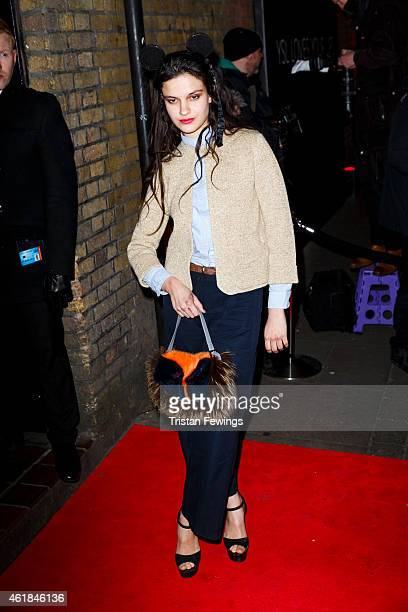 Evangeline Ling attends the YSL Beaute YSL Loves Your Lips party at The Boiler HouseThe Old Truman Brewery on January 20 2015 in London England