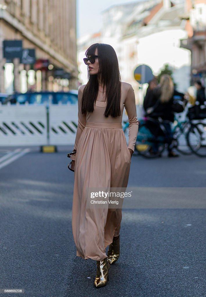 Street Style Day 2 - Copenhagen Fashion Week SS17 : News Photo
