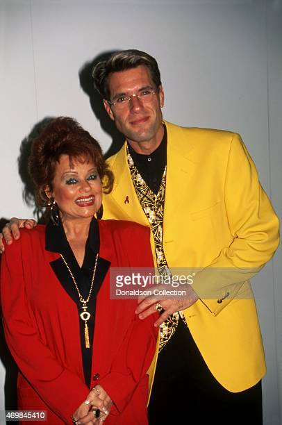 Evangelist and television personality Tammy Faye Bakker and actor Jim J Bullock pose for a portrait at The National Association of Television Program...